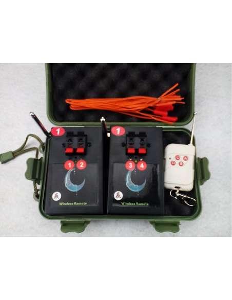 Pack de 2 sistemas de disparo con 2 canales más maleta transporte