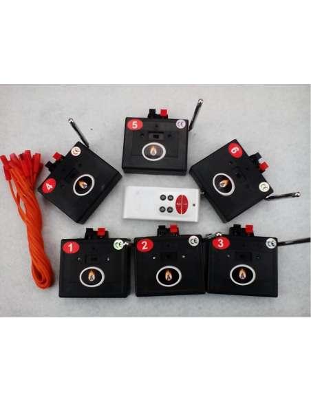 Sistema inalámbrico de ignición pirotecnia 6 sistemas