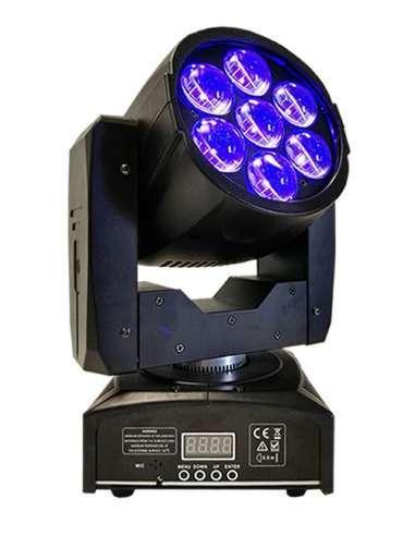 Cabeza móvil LED BEAM WASH 7X12W con Zoom