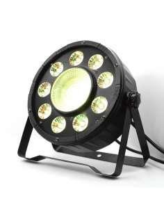 Foco PAR LED 9X10W más LED COB 30W RGBW
