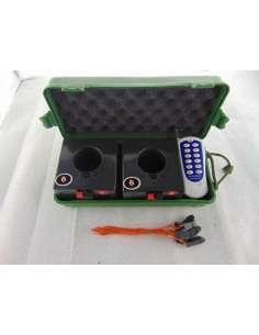 Pack de 2 sistemas de disparo con 1 canal más maleta transporte