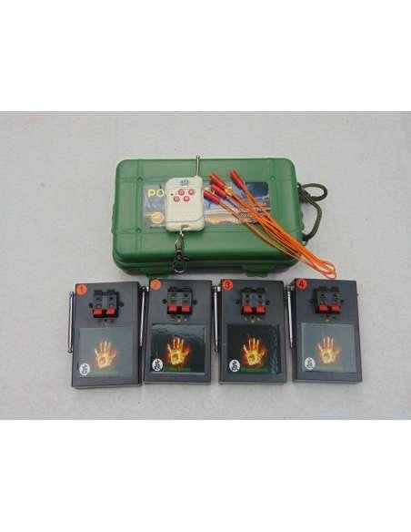 Sistema inalámbrico de ignición pirotecnia 4 sistemas