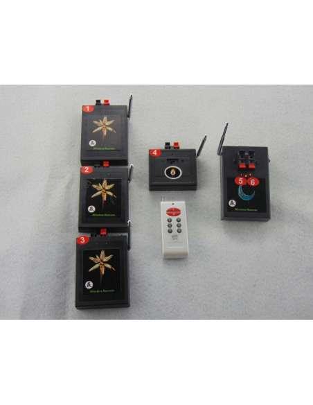 Sistema inalámbrico de ignición pirotecnia 5 sistemas