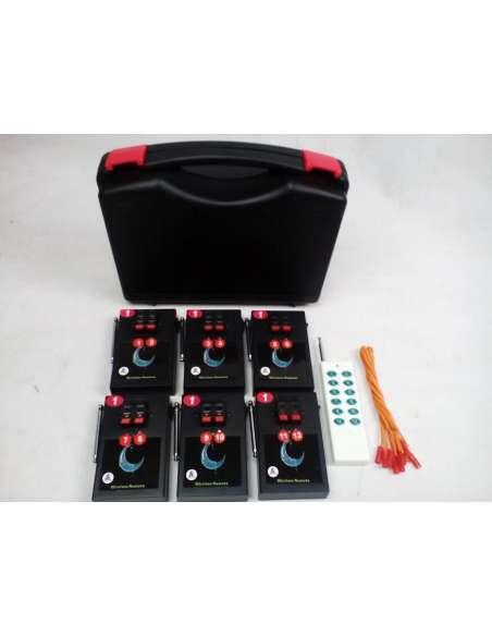 Sistema inalámbrico de ignición pirotecnia 6 sistemas dobles
