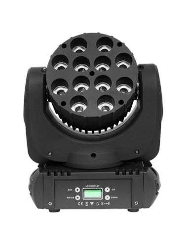 Cabeza móvil LED BEAM 12 LED 12W RGBW
