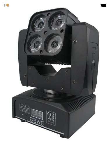 Cabeza móvil LED BEAM WASH 4X15W CREE RGBW