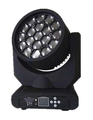 Cabeza móvil WASH de 19X15W con efecto caleido Similar a Clay Paky B Eye K10 ECO