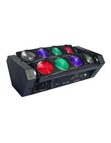 Cabeza móvil BEAM Spider RGBW LED8X10W ImpreSPIDER8122