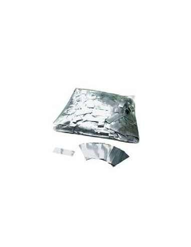 Confetti Plateado Rectangular 2X5 cm