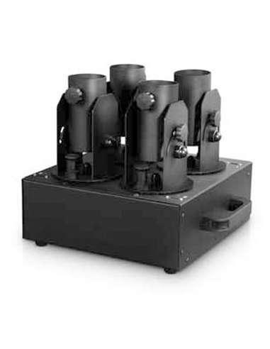 Máquina para disparo de 4 cañones de confetti