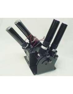 Máquina para disparo de 4 cañones de confetti. Control DMX. Orientable