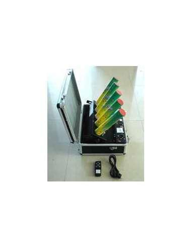 Máquina para disparo de 5 cañones de confetti en abanico orientable