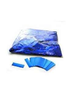 Confetti Azul Metalizado Rectangular 2X5 cm