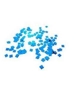 Confetti Azul Metalizado Cuadrado 1X1 cm
