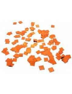 Confetti Naranja Metalizado Cuadrado 1X1 cm