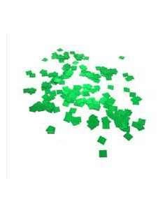 Confetti Verde Metalizado Cuadrado 1X1 cm